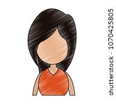 young faceless woman profile... | Shutterstock .eps vector #1070425805