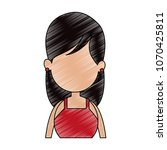 young faceless woman profile... | Shutterstock .eps vector #1070425811