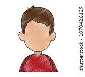 young man faceless cartoon... | Shutterstock .eps vector #1070426129