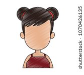 young faceless woman profile... | Shutterstock .eps vector #1070426135