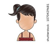 young faceless woman profile... | Shutterstock .eps vector #1070429681