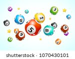 realistic detailed 3d lotto... | Shutterstock .eps vector #1070430101