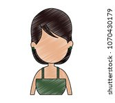 young faceless woman profile... | Shutterstock .eps vector #1070430179