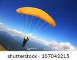 Paraglider Taking Off From A...