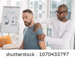 physical therapy. smart nice... | Shutterstock . vector #1070433797