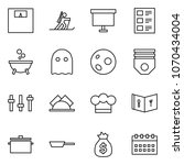 flat vector icon set   weight...