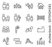 flat vector icon set   man and... | Shutterstock .eps vector #1070434181