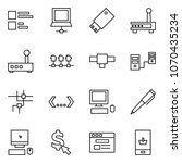 flat vector icon set   comments ... | Shutterstock .eps vector #1070435234