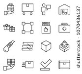 flat vector icon set   gift... | Shutterstock .eps vector #1070436137