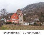 the red house  vaduz ... | Shutterstock . vector #1070440064