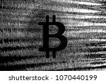 bitcoin on abstract background... | Shutterstock . vector #1070440199