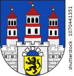 coat of arms of freiberg is a... | Shutterstock .eps vector #1070441351