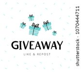 giveaway vector illustration... | Shutterstock .eps vector #1070444711