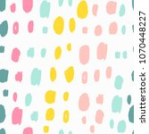 trendy seamless pattern with... | Shutterstock . vector #1070448227