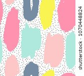 trendy seamless pattern with... | Shutterstock . vector #1070448824