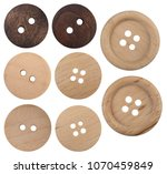 wooden buttons set collection... | Shutterstock . vector #1070459849
