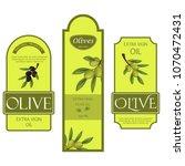 olive oil labels vector...   Shutterstock .eps vector #1070472431