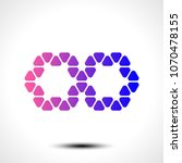 abstract infinity symbol on... | Shutterstock .eps vector #1070478155