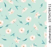 trendy floral background with... | Shutterstock .eps vector #1070478911