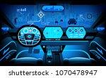 automobile cockpit  various... | Shutterstock .eps vector #1070478947