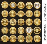 golden retro sale badges and... | Shutterstock .eps vector #1070480219