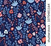 trendy seamless floral pattern. ... | Shutterstock .eps vector #1070481164