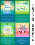 hot summer sale web posters set ... | Shutterstock .eps vector #1070482847