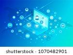 social network promo poster... | Shutterstock .eps vector #1070482901