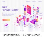 new virtual reality promo... | Shutterstock .eps vector #1070482934