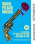 rock peace music gig poster... | Shutterstock .eps vector #1070486525