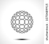 abstract globe design icon.... | Shutterstock .eps vector #1070489915