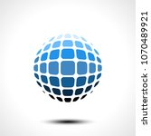 abstract globe design icon.... | Shutterstock .eps vector #1070489921