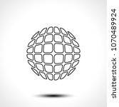 abstract globe design icon.... | Shutterstock .eps vector #1070489924