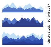 mountains in geometric style....   Shutterstock .eps vector #1070491067