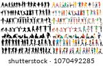 set  a collection of dancing... | Shutterstock .eps vector #1070492285