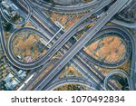 elevated expressway. the curve... | Shutterstock . vector #1070492834