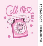 my love. telephone illustration ... | Shutterstock .eps vector #1070498321