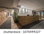 reception and corridor in... | Shutterstock . vector #1070499227