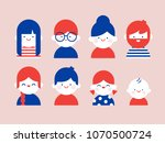 flat happy people illustration | Shutterstock .eps vector #1070500724
