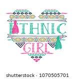 ethnic heart design.... | Shutterstock .eps vector #1070505701