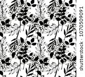 seamless  pattern with flowers  ... | Shutterstock .eps vector #1070509091
