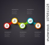 vector circles infographic on a ... | Shutterstock .eps vector #1070511125