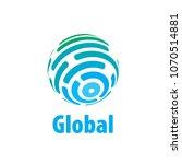 vector logo globe | Shutterstock .eps vector #1070514881