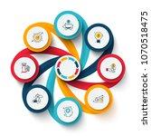 vector swirl elements for... | Shutterstock .eps vector #1070518475