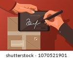 flat illustration on the theme... | Shutterstock .eps vector #1070521901