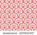 seamless retro pattern with... | Shutterstock .eps vector #1070521937
