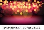 red glitter vintage bokeh... | Shutterstock .eps vector #1070525111