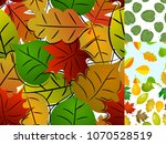 seamless pattern with leaves...   Shutterstock .eps vector #1070528519