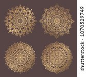 mandala vector design element.... | Shutterstock .eps vector #1070529749