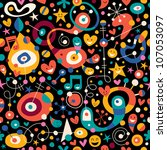 fun cartoon pattern | Shutterstock .eps vector #107053097